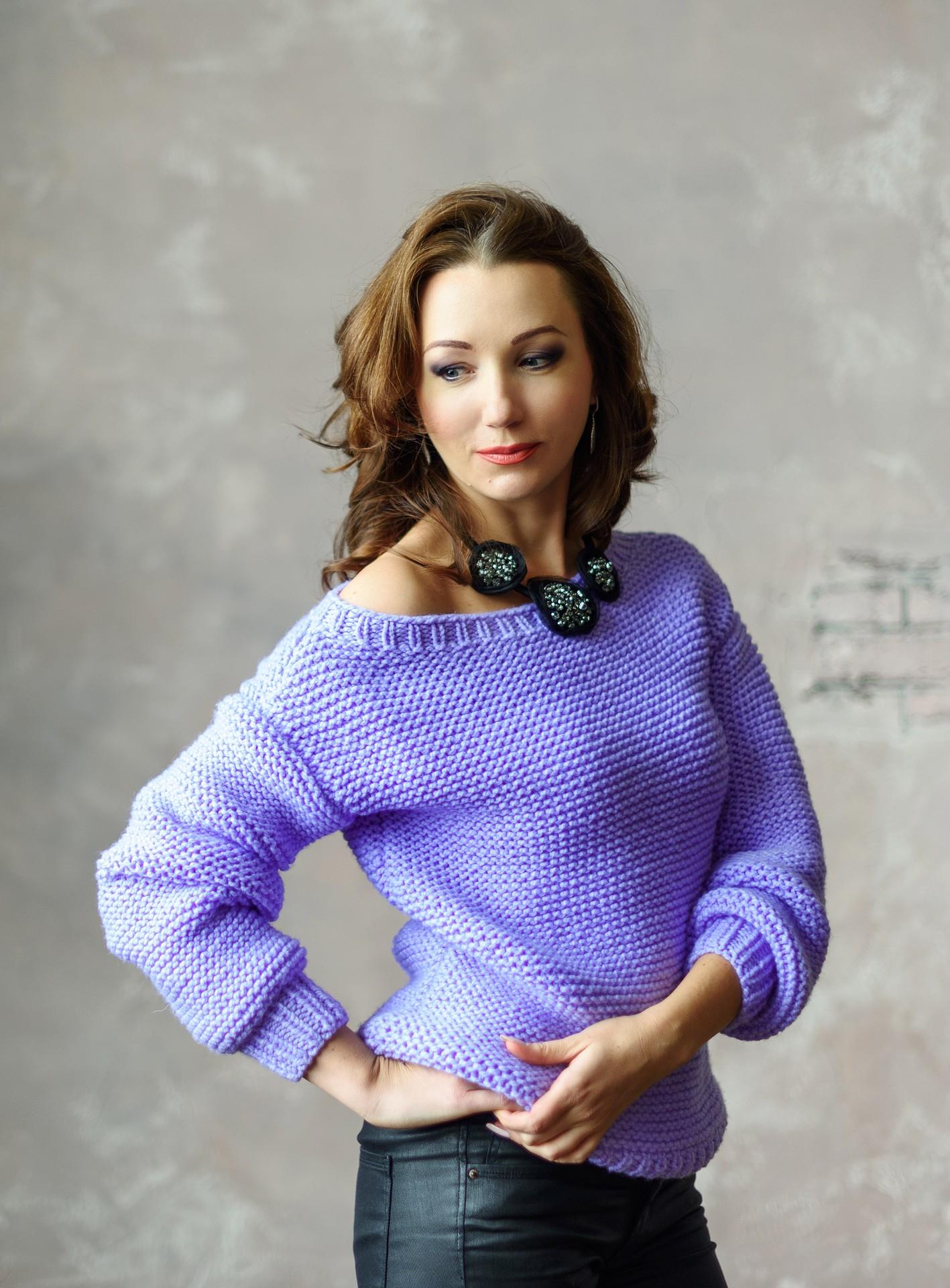 Вязание спицами свитера для начинающих мастер класс 65