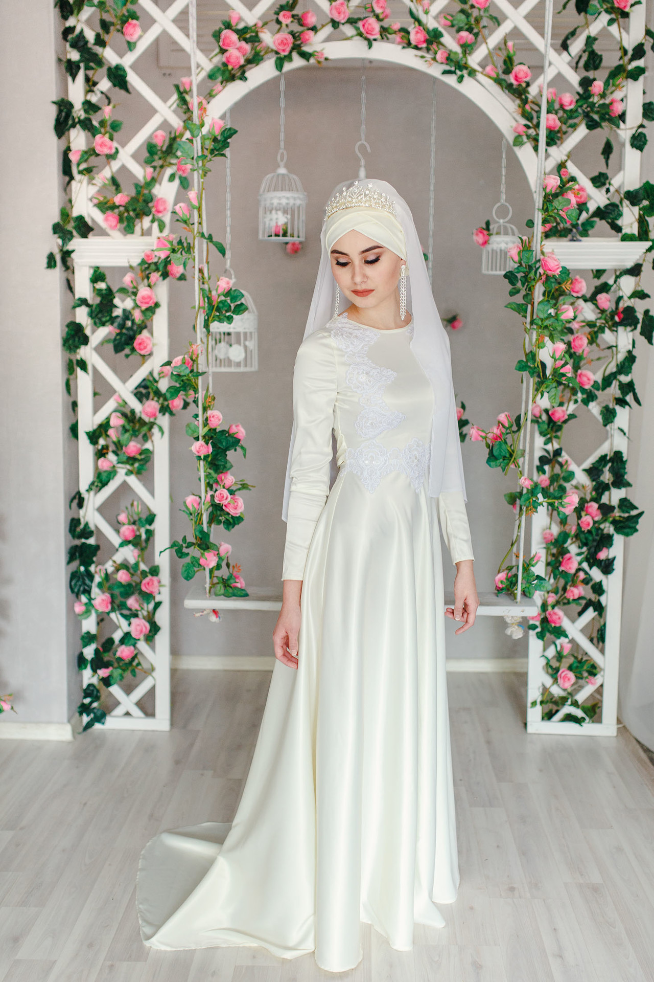 Красивые мусульманские платья для никаха изоражения