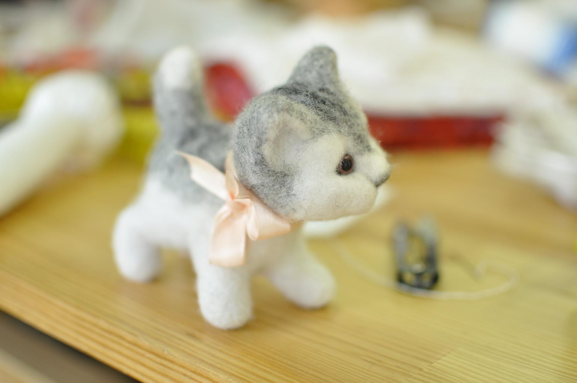 Котята из шерсти мастер классы в фото