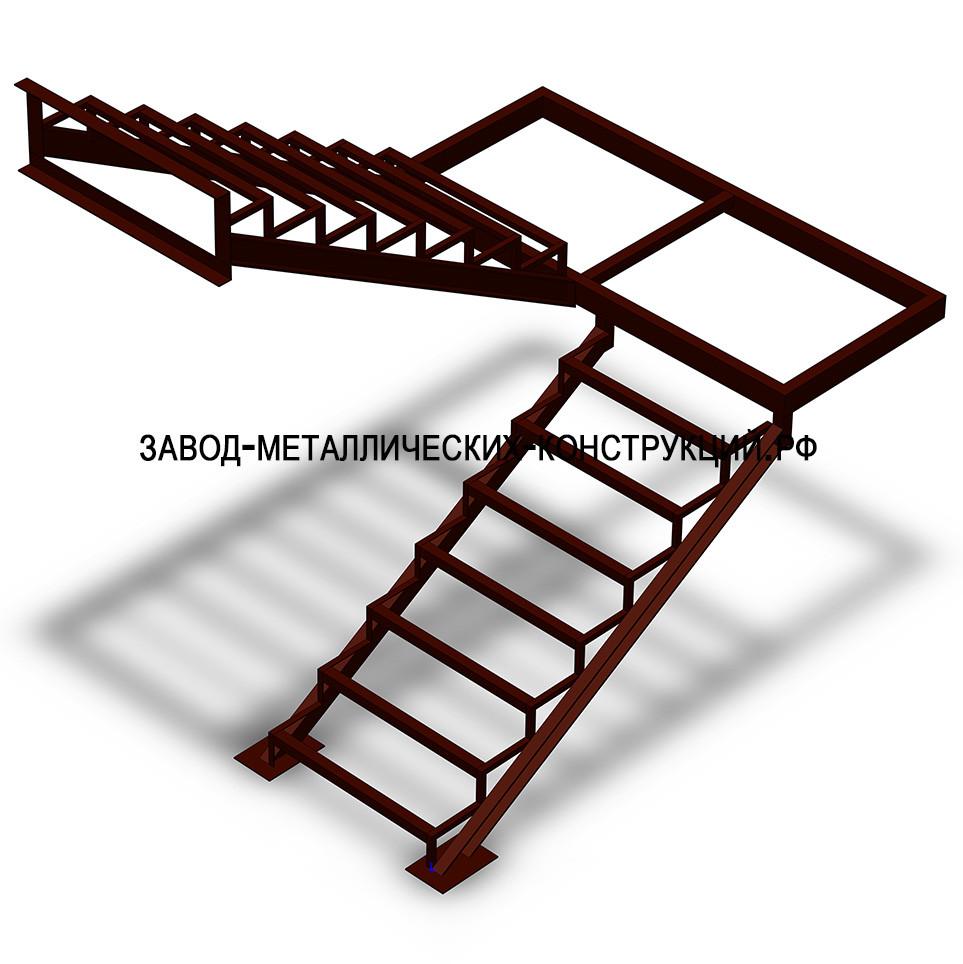 Лестница своими руками с металлокаркасом 115