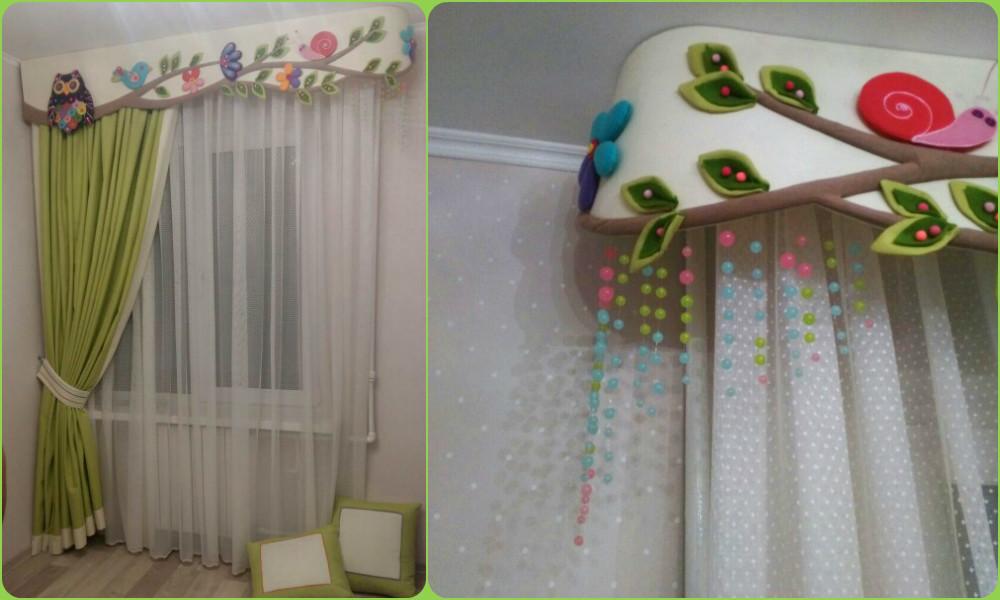 Декор штор в детской своими руками фото идеи 67