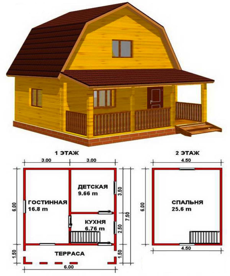 Схемы домов из бруса фото