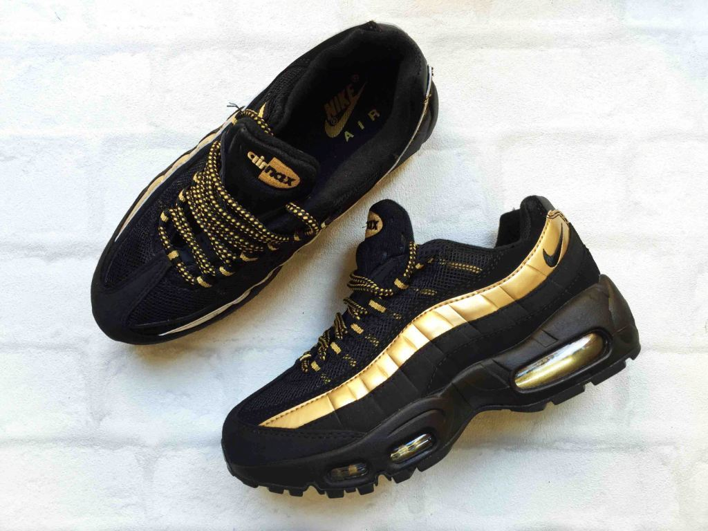 nike air max 95 gold and black в спб дешево