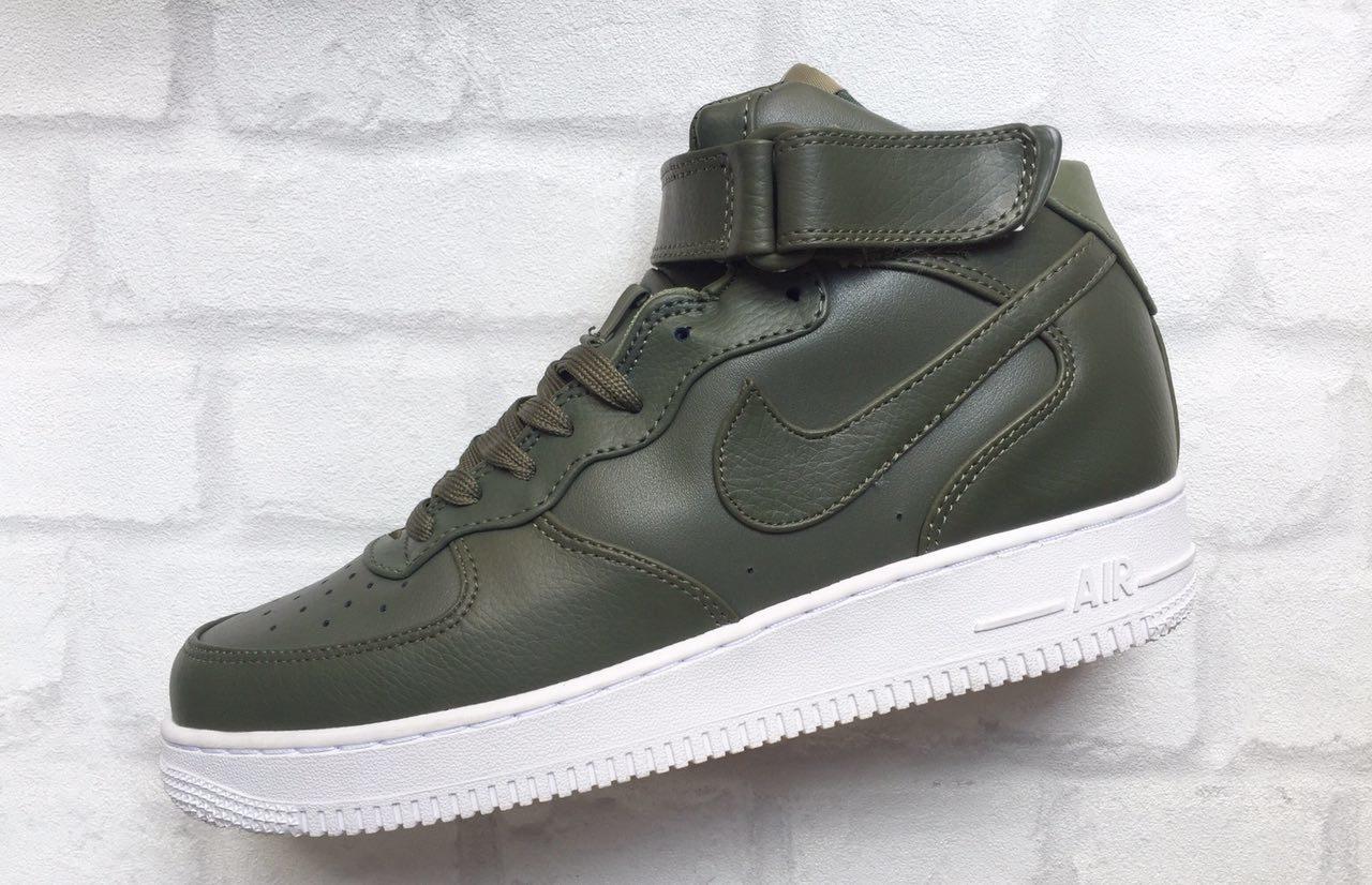 Кроссовки Nike Air Force мужские темно зеленые