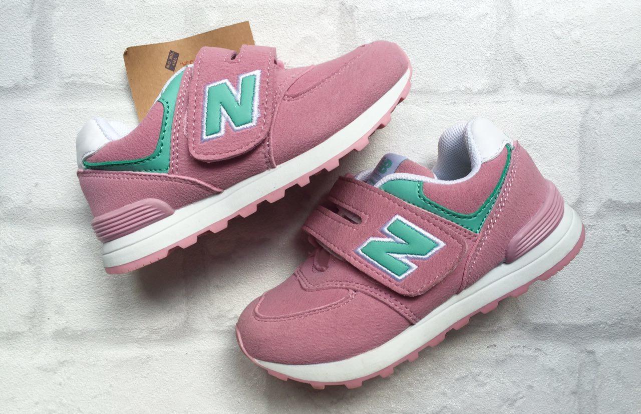 детские кроссовки Нью Баланс розовые 1990 рублей